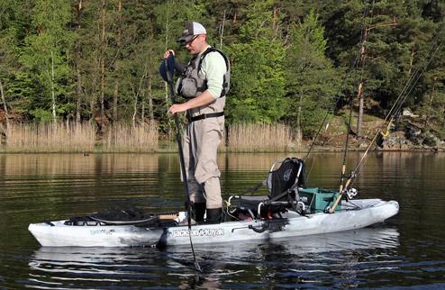 Jackson Kayak Liska je velmi stabilní pro lov ze stoje